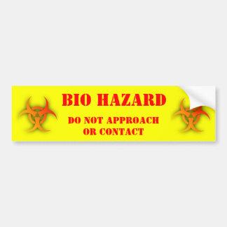 Bio Hazard Funny Bumper Sticker Humor