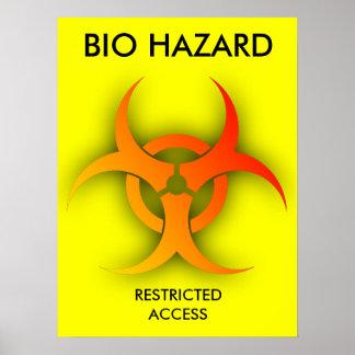 Bio Hazard Funny Print Poster Humor