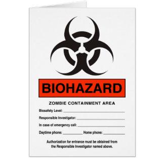 Bio Hazard Greeting Card