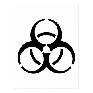 Bio Hazard Icon! Post Card