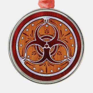 Bio Hazard Inlay II Metal Ornament
