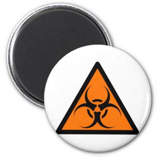 Bio Hazard or Biohazard Sign Symbol Warning Orange 2 Inch Round Magnet