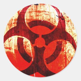 Bio-Hazard Round Sticker