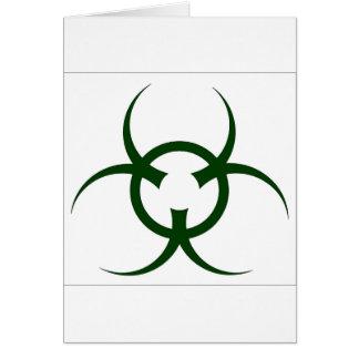 Bio Hazard Symbol Card