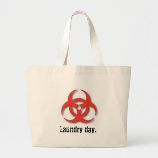Bio-Hazard-Symbol, Laundry day. Large Tote Bag