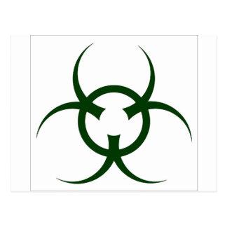 Bio Hazard Symbol Postcard