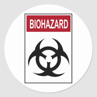Bio Hazard Vintage Sign Classic Round Sticker
