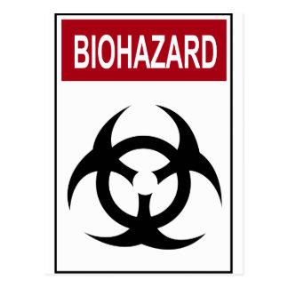 Bio Hazard Vintage Sign Post Card