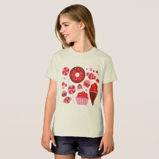Bio kids tshirt with Red donuts