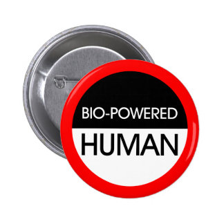 Bio-Powered Human 2 Inch Round Button