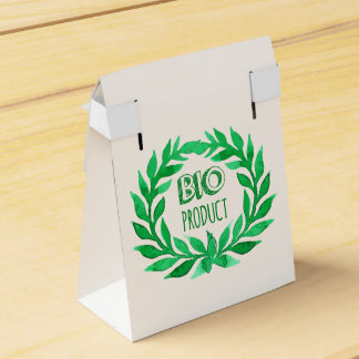 Bio Product Green Watercolor Farm Fresh Food Party Favor Box