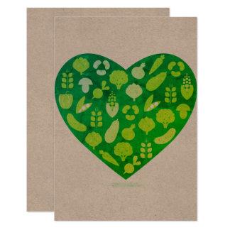Bio vegetable Heart greeting Card
