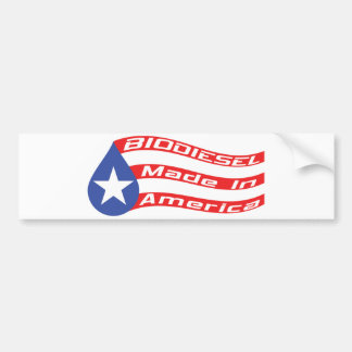 Biodiesel Made In USA Flag Bumper Sticker