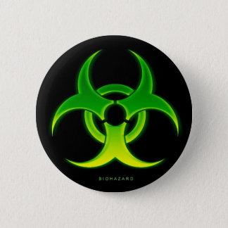 BioHazard 2 Inch Round Button