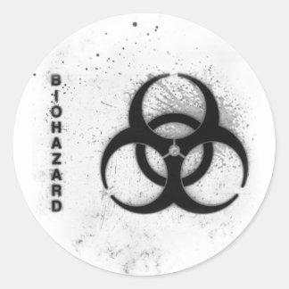 biohazard sticker rond