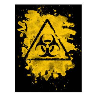Biohazard - bleached grungy look postcard