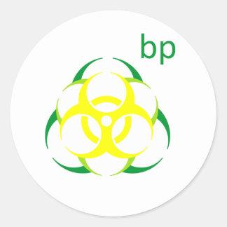 Biohazard bp 2 round sticker