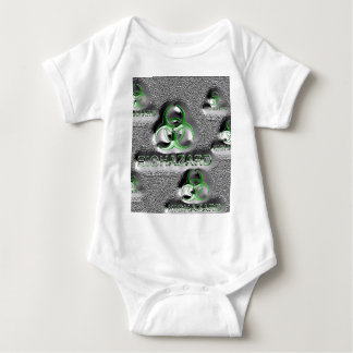 biohazard fallout contamination sign toxic green baby bodysuit