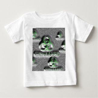 biohazard fallout contamination sign toxic green baby T-Shirt