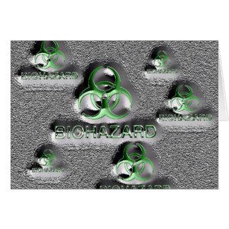 biohazard fallout contamination sign toxic green card