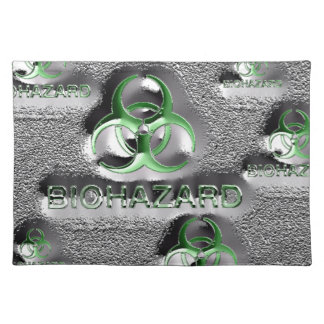 biohazard fallout contamination sign toxic green placemat