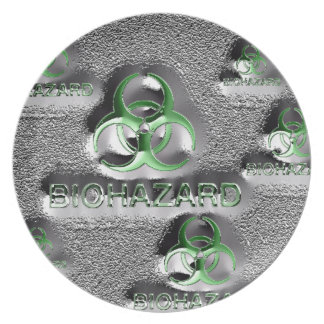biohazard fallout contamination sign toxic green plate