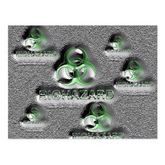 biohazard fallout contamination sign toxic green postcard