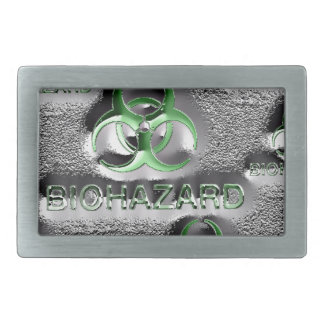 biohazard fallout contamination sign toxic green rectangular belt buckles