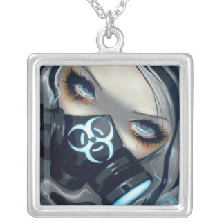 Biohazard Gas Mask Fairy NECKLACE gothic fof 143