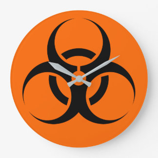 Biohazard Large Clock