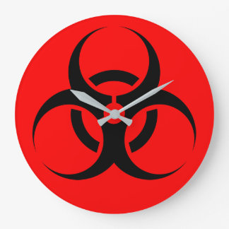Biohazard Large Clock