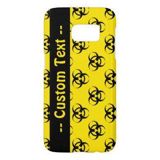 Biohazard Pattern Phone Case w/ Custom Text