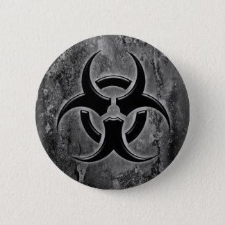 Biohazard pin button