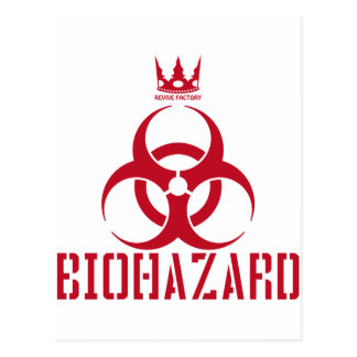 BIOHAZARD (red) Postcard
