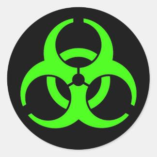 Biohazard Round Stickers