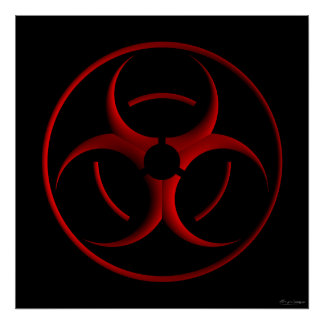 Biohazard sign posters