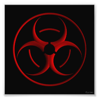 Biohazard sign print