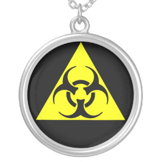 Biohazard Silver Plated Necklace