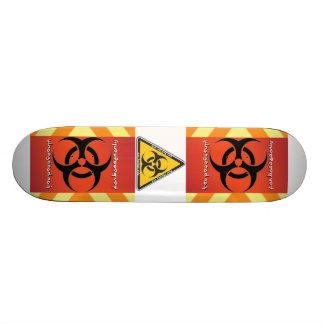 biohazard skate board deck