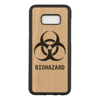 Biohazard Symbol Carved Samsung Galaxy S8+ Case