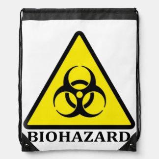 BioHazard Symbol Drawstring Bag