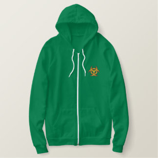 Biohazard Symbol Embroidered Hoodie