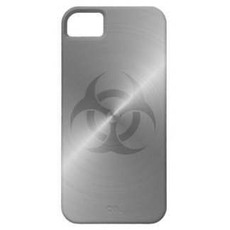Biohazard Symbol In Steel Case For The iPhone 5