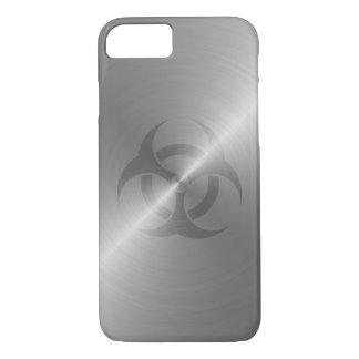 Biohazard Symbol In Steel iPhone 7 Case
