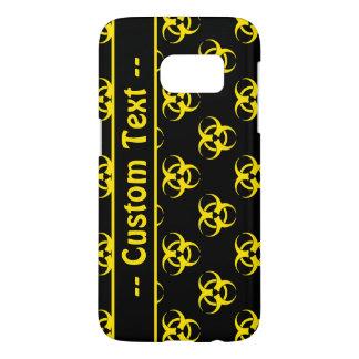 Biohazard Symbol Pattern Phone Case w/ Custom Text