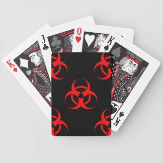 Biohazard Symbol Playing Cards
