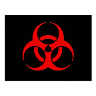 Biohazard Symbol Postcard