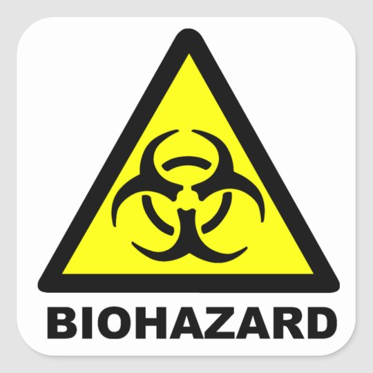 Biohazard Symbol Square Sticker