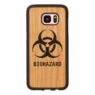 Biohazard Symbol Wood Samsung Galaxy S7 Edge Case
