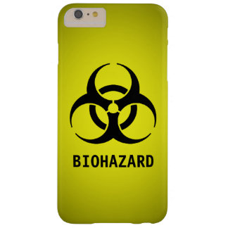 Biohazard Symbol (Yellow) Barely There iPhone 6 Plus Case